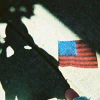 American flag shadow
