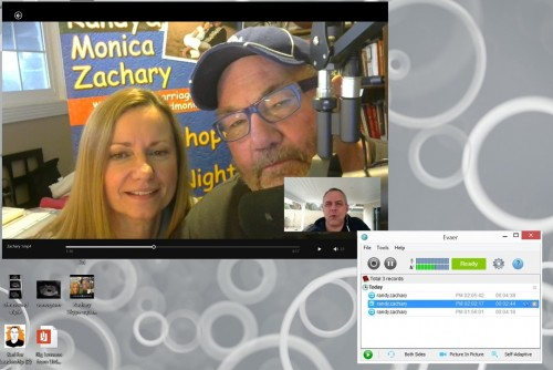 Screen shot of how to record church video using Skype and Evaer